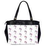 Sweet Flamingo Pattern Office Handbags (2 Sides)  Back