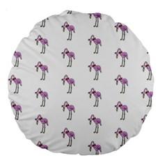 Sweet Flamingo Pattern Large 18  Premium Round Cushions
