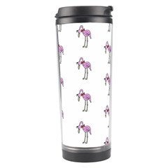 Sweet Flamingo Pattern Travel Tumbler