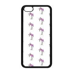 Sweet Flamingo Pattern Apple Iphone 5c Seamless Case (black)