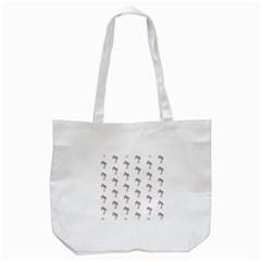 Sweet Flamingo Pattern Tote Bag (white)