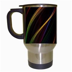 Rainbow Ribbons Travel Mugs (white)