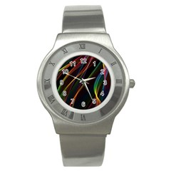 Rainbow Ribbons Stainless Steel Watch
