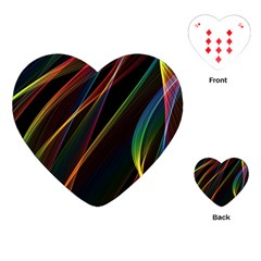 Rainbow Ribbons Playing Cards (heart)