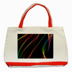 Rainbow Ribbons Classic Tote Bag (red)