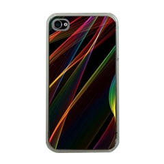 Rainbow Ribbons Apple Iphone 4 Case (clear)