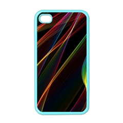 Rainbow Ribbons Apple Iphone 4 Case (color)