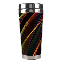 Rainbow Ribbons Stainless Steel Travel Tumblers