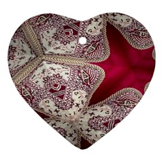 Morocco Motif Pattern Travel Ornament (heart)