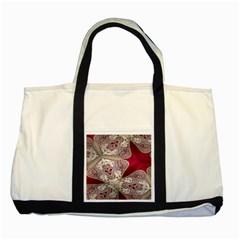 Morocco Motif Pattern Travel Two Tone Tote Bag