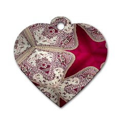 Morocco Motif Pattern Travel Dog Tag Heart (one Side)