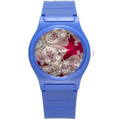 Morocco Motif Pattern Travel Round Plastic Sport Watch (s)