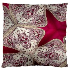 Morocco Motif Pattern Travel Large Flano Cushion Case (one Side)
