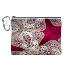 Morocco Motif Pattern Travel Canvas Cosmetic Bag (l)