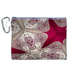 Morocco Motif Pattern Travel Canvas Cosmetic Bag (xl)