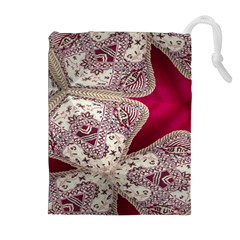 Morocco Motif Pattern Travel Drawstring Pouches (extra Large)