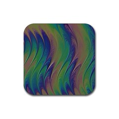 Texture Abstract Background Rubber Coaster (square)