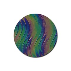 Texture Abstract Background Rubber Round Coaster (4 Pack)