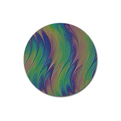 Texture Abstract Background Magnet 3  (round)