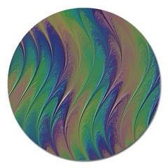 Texture Abstract Background Magnet 5  (round)