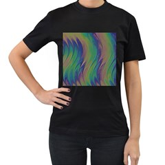 Texture Abstract Background Women s T Shirt (black) (two Sided)