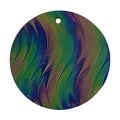 Texture Abstract Background Round Ornament (two Sides)