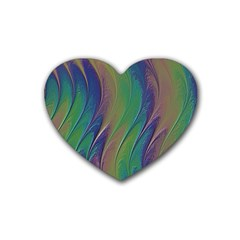 Texture Abstract Background Heart Coaster (4 Pack)