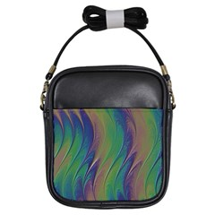 Texture Abstract Background Girls Sling Bags