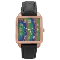 Texture Abstract Background Rose Gold Leather Watch