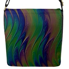 Texture Abstract Background Flap Messenger Bag (s)