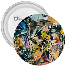 Art Graffiti Abstract Vintage 3  Buttons