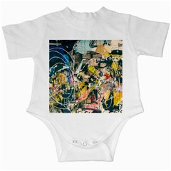 Art Graffiti Abstract Vintage Infant Creepers