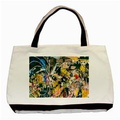 Art Graffiti Abstract Vintage Basic Tote Bag
