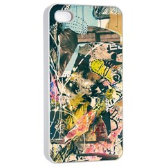 Art Graffiti Abstract Vintage Apple Iphone 4/4s Seamless Case (white)