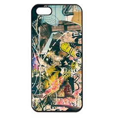 Art Graffiti Abstract Vintage Apple Iphone 5 Seamless Case (black)