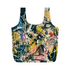 Art Graffiti Abstract Vintage Full Print Recycle Bags (m)