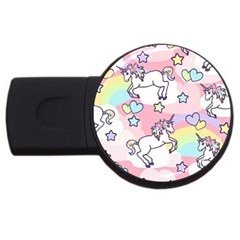 Unicorn Rainbow Usb Flash Drive Round (2 Gb)