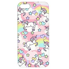 Unicorn Rainbow Apple Iphone 5 Hardshell Case With Stand