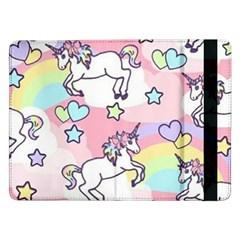 Unicorn Rainbow Samsung Galaxy Tab Pro 12 2  Flip Case