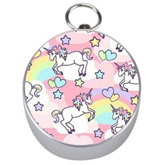 Unicorn Rainbow Silver Compasses