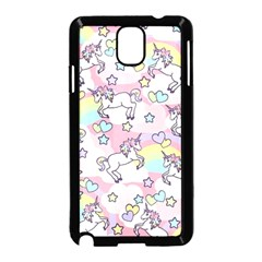 Unicorn Rainbow Samsung Galaxy Note 3 Neo Hardshell Case (black)