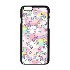 Unicorn Rainbow Apple Iphone 6/6s Black Enamel Case