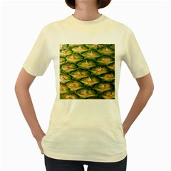 Pineapple Pattern Women s Yellow T Shirt