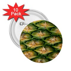 Pineapple Pattern 2 25  Buttons (10 Pack)