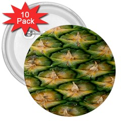 Pineapple Pattern 3  Buttons (10 Pack)
