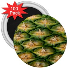 Pineapple Pattern 3  Magnets (100 Pack)