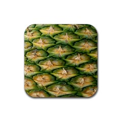 Pineapple Pattern Rubber Square Coaster (4 Pack)