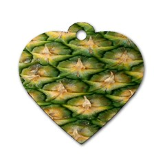 Pineapple Pattern Dog Tag Heart (one Side)