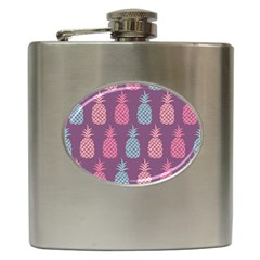 Pineapple Pattern Hip Flask (6 Oz)
