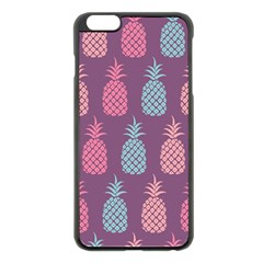 Pineapple Pattern Apple Iphone 6 Plus/6s Plus Black Enamel Case